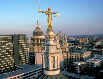 Statue of Justice St Pauls